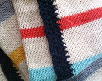 Knitted Cotton Baby Blanket (crib size) - Spring Play