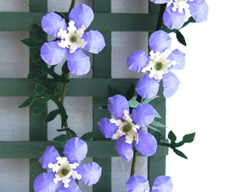 Flower Kit PURPLE CLEMATIS for scrapbooking, card making, dollhouse garden