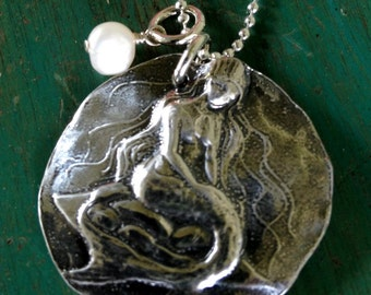True to yourself mermaid pendant