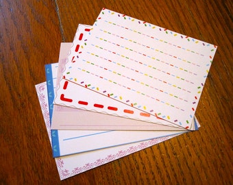 Animal Crossing Stationery Notecards - Simple Set, 10 cards per set