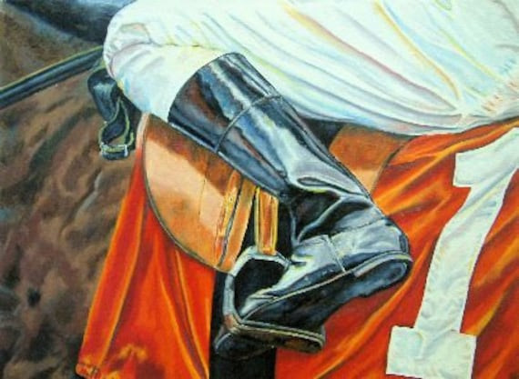 Horse Racing saddle cloth art limited edition print small giclee' signed