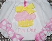 Lemonade Diaper Cover Birthday GIrl Shabby Chic