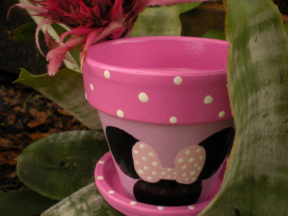 Mouse Ears Flower Pot  - matching set - Reserved for Linda