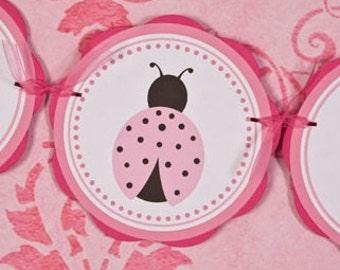 Ladybug Baby Shower Banner   ITu0027S A GIRL   Ladybug Theme Baby Shower  Decorations In Light