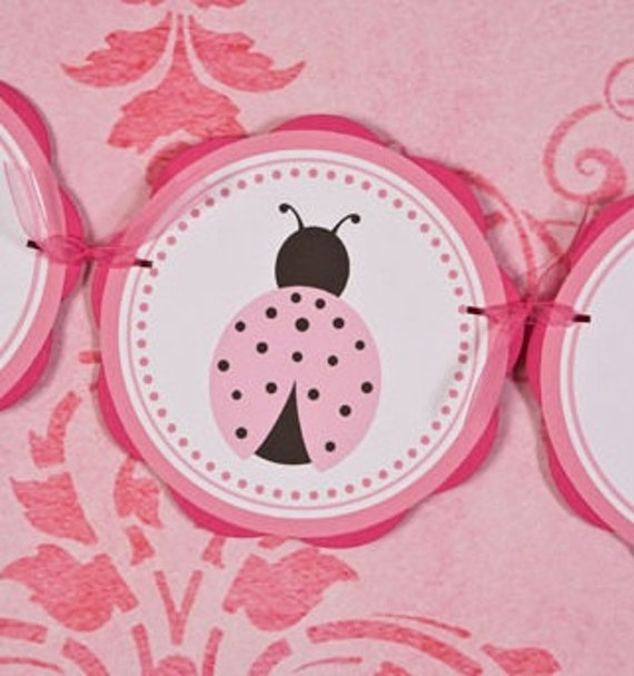 Items similar to ladybug baby shower banner it 39 s a girl for It s a girl dekoration