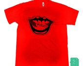 SALE Premium Mouth Worms Design on a Unisex  American Apparel T-shirt