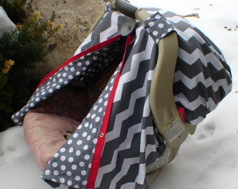 Add a fitted back to your carseat cover