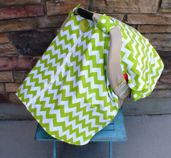 Unisex Car seat canopy Chevron  / Car seat cover / car seat canopy / carseat cover / carseat canopy / nursing cover