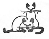Siamese Cats Unmounted Rubber Stamp