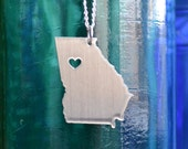 Atlanta Georgia Love Pendant on 18inch Sterling Silver Chain