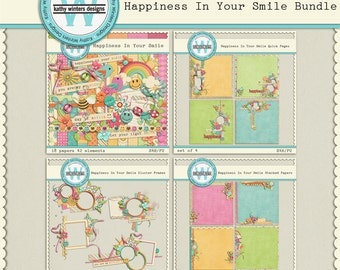 Digital Scrapbook Kit Happiness In Your Smile