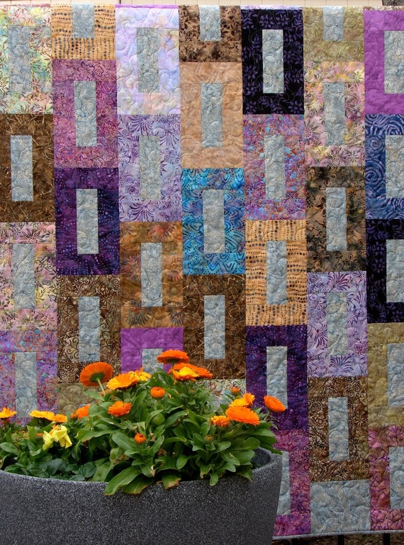 Beautiful Batik Quilt or Wall Hanging Warm and Rich Colors