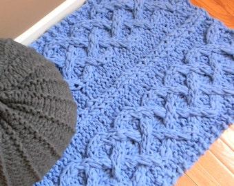 Super Chunky Knit Blanket Pattern : Giant Super Chunky Knit Blanket pattern Pattern by LuckyHanks