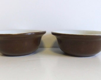 Custard Cup - Vintage Hall Dish - Brown Heavy Bowl - Finger bowl - Dipping bowl - Ramekin Baking dish