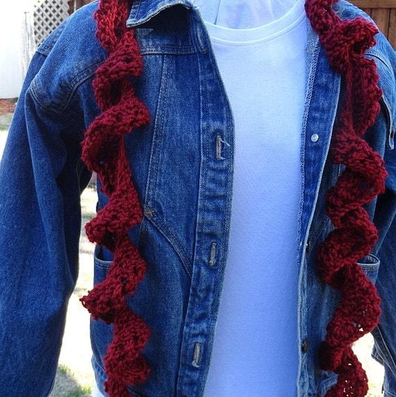 Knitting Pattern For Corkscrew Scarf : Knitting Pattern for Scarf, Easy to Knit Spiral Scarf Pattern, Beginner Knitt...