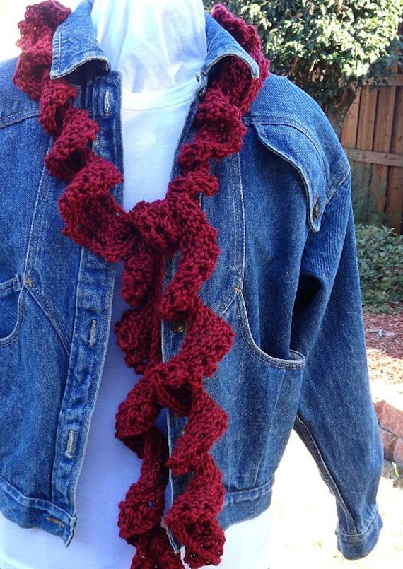 Knitting Pattern For Spiral Scarf : Knitting Pattern for Scarf, Easy to Knit Spiral Scarf Pattern, Beginner Knitt...