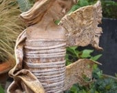 Contemporary  fabric angel sculpture for  indoors or outside