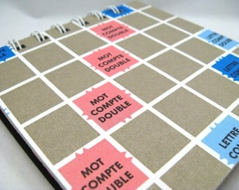 French Scrabble game board notepad - medium
