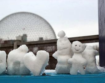 Snow Sculptures in Jean-Drapeau Park, Montreal 4x6 postcard