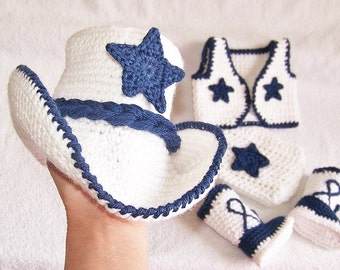 Cowboy Baby Outfit - White Baby Cowboy Outfit - Baby Cowboy Prop - Cowboy Newborn - Western Wear Baby - Cowboy Baby Vest - Sheriff Baby