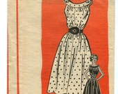 Mail Order Pattern - Vintage 50s Sun Dress Pattern with Shaped Belt - 32 bust