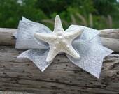 Starfish Hair Clip-SEASHORE SPARKLE-Mermaids, Beach Weddings, Silver , Girl Hair Clip, Summer Vacation, Starfish