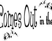 Vinyl Quote-It All Comes Out In The Wash - special buy any 2 quotes and get a 3rd quote free of equal or lesser value