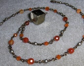 Carnelian Necklace, Pyrit...