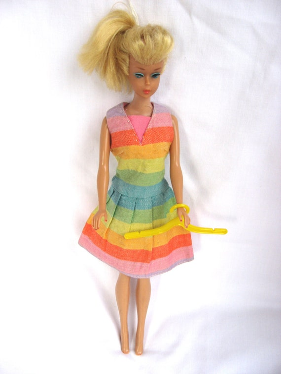 Vintage 1965 Mattel Barbie Dress Fun And Games 1619 Doll Not