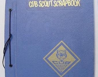 Vintage Boy Scouts of America Cub Scouts BSA Scrapbook Bear & Arrow Point Award Mike Hart Grand Rapids MI 1974
