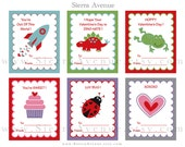 Printable Valentine's Day Cards - Mini Valentines or Gift Tags