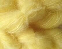Mohair Yarn in Tango Yellow Fingering Weight