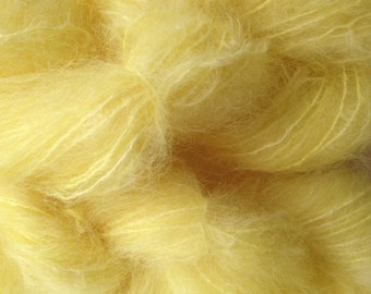 Mohair Yarn in Tango Yellow Fingering Weight