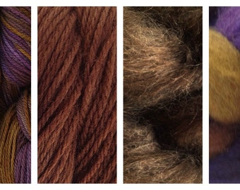 Hand Dyed Samples of Merino Wool DK Sport Weight Yarn in Mocha Bean