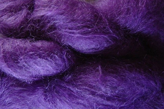 Mohair Yarn in Hydrangea Purple Fingering Weight
