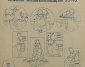 Sunbonnet Mother and Daughter Motifs Hot Iron Transfer embroidery painting needlepoint Aunt Martha's