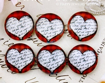 10pcs 12mm (GC12-656) Handmade Photo Glass Cabochon