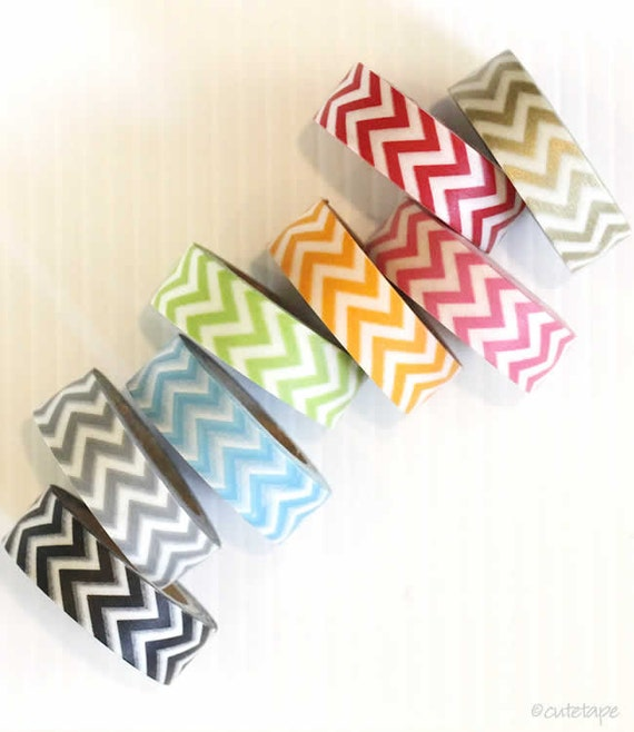 Chevron Washi Tape Chevron Packaging Scrapbook Embellishment Wedding Decoration Gold Washi Tape Paper Gift Wrap
