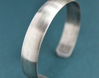 Mens Silver Cuff, Mens Silver Bracelet, Mens Silver Bangle
