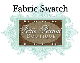 Choose a Fabric Swatch