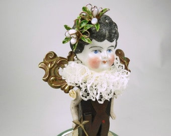 "Angel Assemblage Doll ""Tea"" Assemblage Art Doll, Fairy Doll"