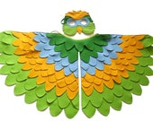 Parrot Costume for Kids, Children Bird Wings and Mask Dress up Toy for Girls and Boys, Toddlers