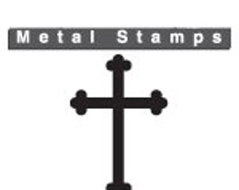 """ROUNDED CROSS Metal Design STAMP 6mm 1/4"""" ImpressArt  Steel Tool Hand Stamped Jewelry Making Christian Cross Religious Symbol Gothic"""