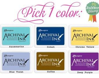 Fabric Ink Pad (Archival) Black, Vermillion, Coffee, Cobalt, Olive, Plum, Deep Purple, Rose Madder, Magenta Hue, Blue Violet & Aquamarine