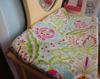 Ready to ship- Changing Pad Cover in Kumari Garden Fabric
