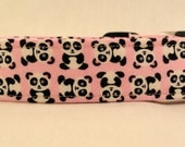 Awesome Cute Mini Panda Bears on Pink Dog Collar