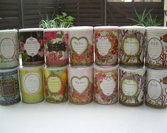 Unique Gift Tins Let Your family and friends open up their own heartfelt gift can tin Every occassion