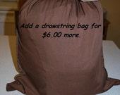 Drawstring storage bag