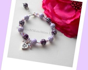 Big Sister Little Sister Bracelet with Swarovski Crystals B091