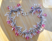 Pink Ice Bracelet, Swarovski Crystal and Sterling Silver